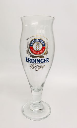 "Erdinger - German Beer Glass - 0.5 Liter - ""Colani"" - NEW"
