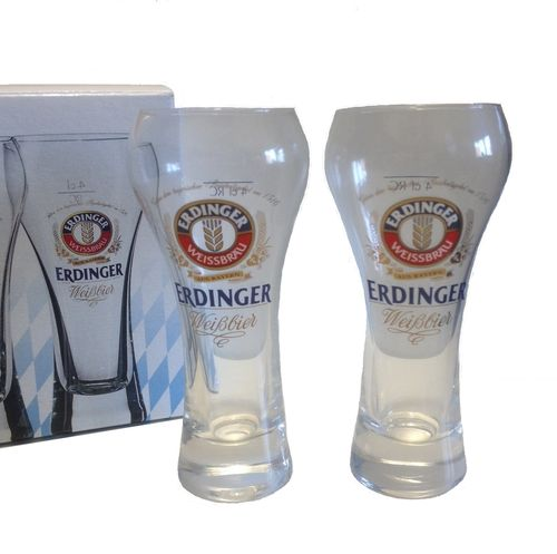 "Erdinger - set of 2 - shot glasses - ""Schnaps"" - 4cl - NEW"