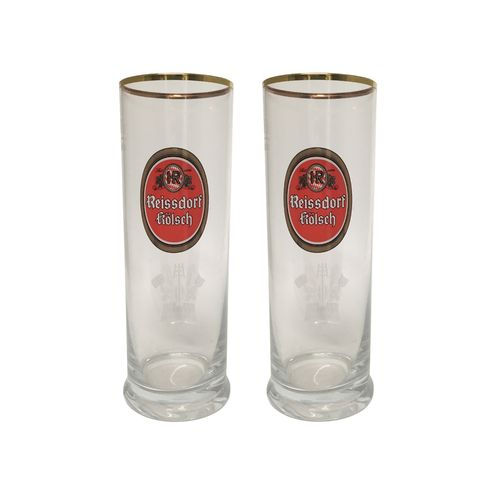 Reissdorf Kolsch - set of 2 - German Beer Glasses 0.2 Liter - *Stange* - NEW