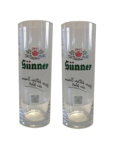 Sunner Kolsch - set of 2 - German Beer Glasses 0.2 Liter - *Stange* - NEW