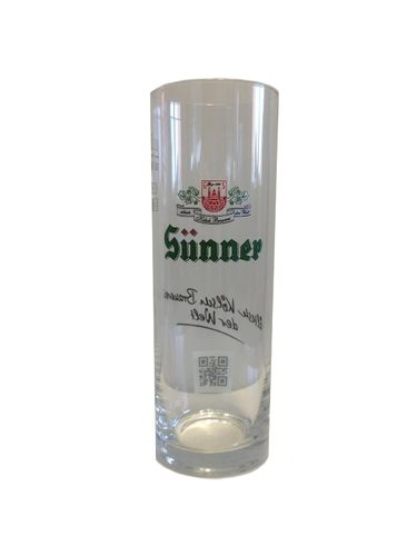 Sunner Kolsch - German Beer Glass 0.2 Liter - *Stange* - NEW
