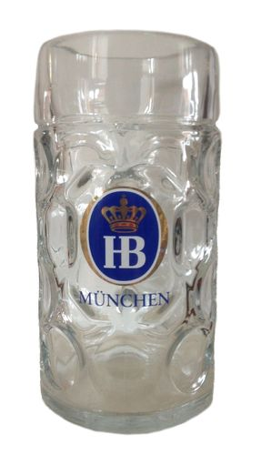 "Hofbrauhaus - German Beer Glass 1.0 Liter Stein - Masskrug - ""Oktoberfest"" - NEW"