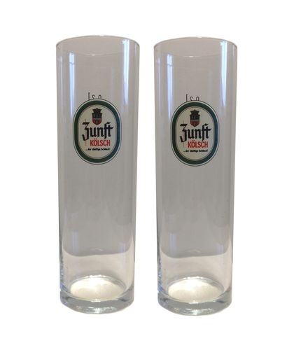 Zunft Kolsch - set of 2 - German Beer Glasses 0.2 Liter - *Stange* - NEW