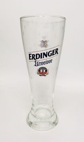 "Erdinger - German Beer Glass - 0.5 Liter - ""Urweisse"" - NEW"
