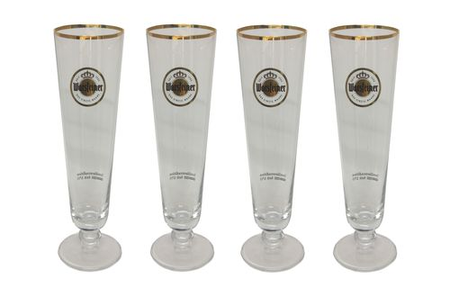 "Warsteiner - set of 4 - German Beer Glasses 0.3 Liter - ""Tulip 1753"" - NEW"
