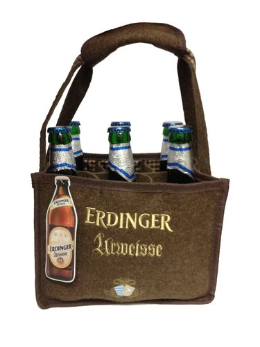 Erdinger - German / Bavarian - Beer Bottle Bag for 6 bottles 0.5 liter - NEW