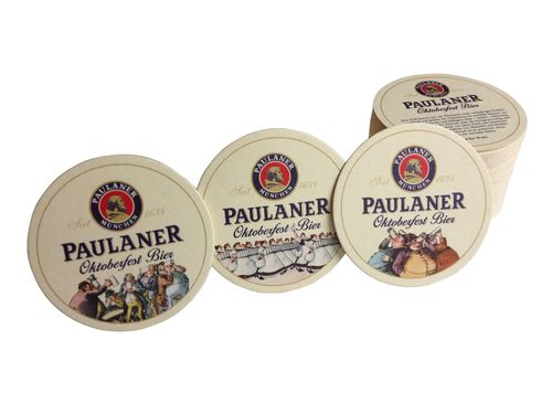 "Paulaner - bavarian / german coasters - ""Oktoberfest"" - pack of 50 - NEW"