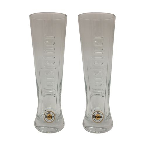 "Warsteiner - set of 2 - German Beer Glasses 0.4 Liter - ""Premium Cup 1753"" - NEW"