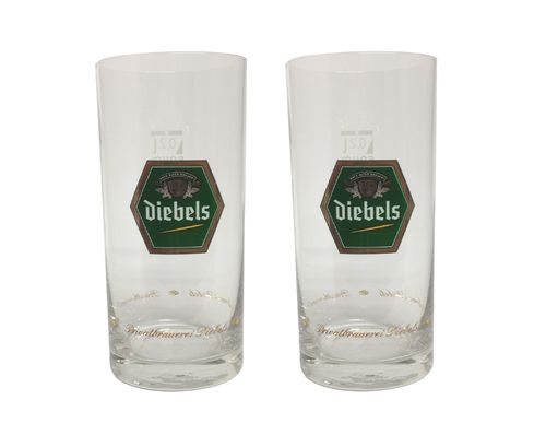 Diebels Alt (Dusseldorf) - set of 2 - German Beer Glasses 0.2 Liter - NEW