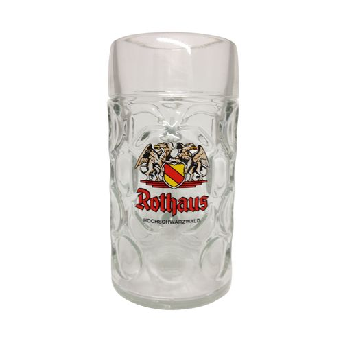 "Rothaus (Black Forest) - German Beer Glass 1.0 Liter Stein - ""Masskrug"" - NEW"