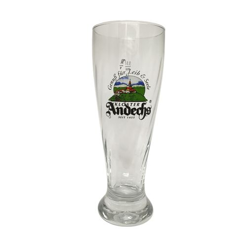 "Kloster Andechs - Bavarian / German Beer Glass - 0.5 Liter - ""Weissbier"" - NEW"