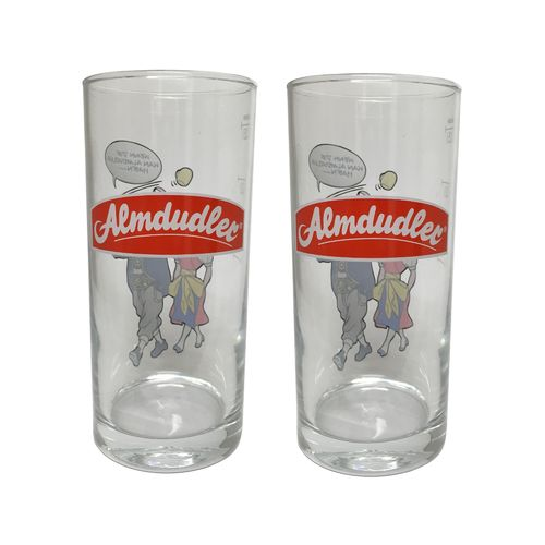 Almdudler - set of 2 - Austrian Glasses 0.25 Liter - NEW