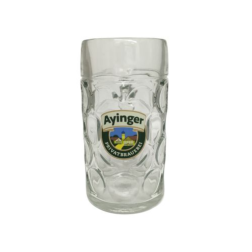 "Ayinger - Bavarian / German Beer Glass 1.0 Liter Stein - Masskrug - ""Oktoberfest"" - NEW"
