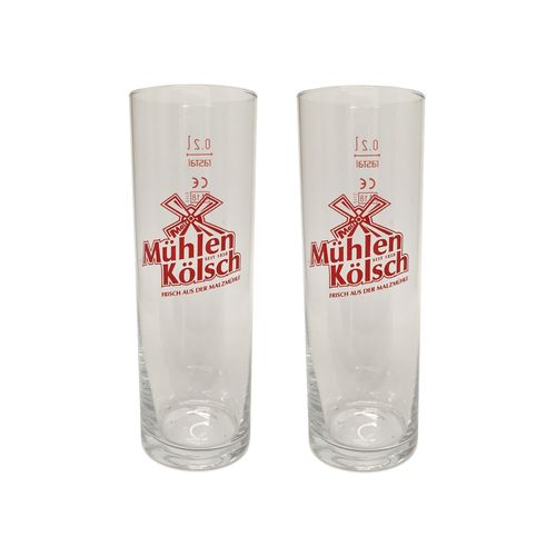 Muhlen Kolsch - set of 2 - German Beer Glasses 0.2 Liter - *Stange* - NEW