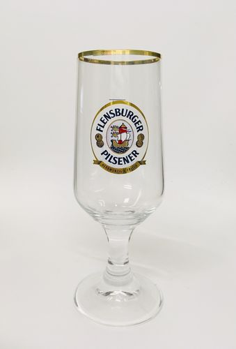 "Flensburger - German Beer Glass - 0.3 Liter - ""Pokal"" - NEW"