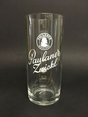 "Paulaner - German Beer Glass 0.5 Liter Stein - ""Zwickl"" - NEW"