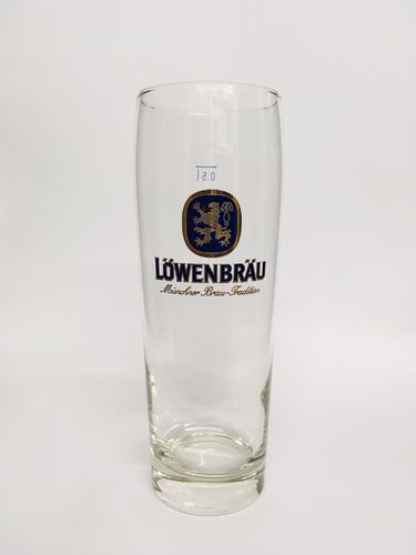 "Lowenbrau - Bavarian / German Beer Glass - 0.5 Liter - ""Helles"" - NEW"