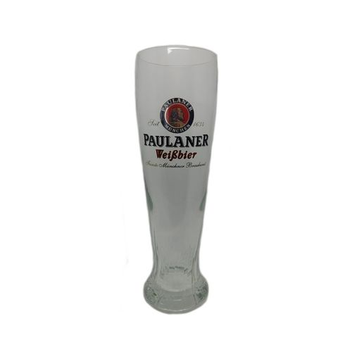"Paulaner - set of 6 - German / Bavarian Beer Glasses 0.5 Liter - ""Weissbier"" - NEW"