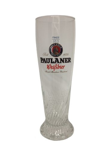"Paulaner - set of 6 - German / Bavarian Beer Glasses 0.3 Liter - ""Weissbier"" - NEW"