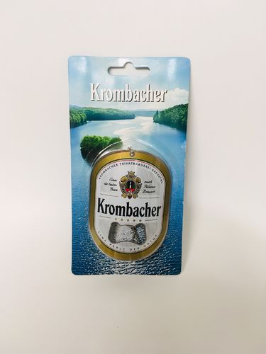 "Krombacher - german bottle opener - ""bottle label"" - NEW"