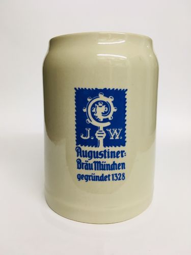 "Augustiner (Munich) - Bavarian / German Beer Stein 0.5 Liter - ""Oktoberfest"" - NEW"