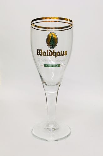 "Waldhaus (Black Forest) - German Beer Glass - 0.3 Liter - ""Jubilaums Dunkel"" - NEW"