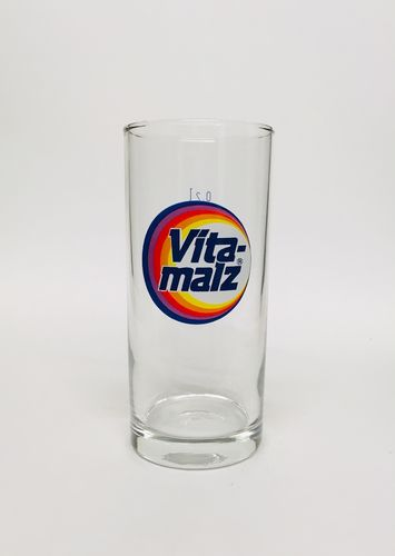 Vitamalz- German Malt Beer Glass 0.2 Liter - NEW