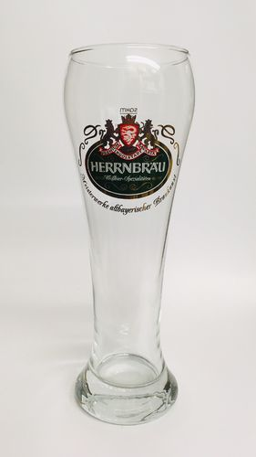 "Herrnbrau (Ingoldstadt) - Bavarian / German Beer Glass - 0.5 Liter - ""Weissbier"" - NEW"