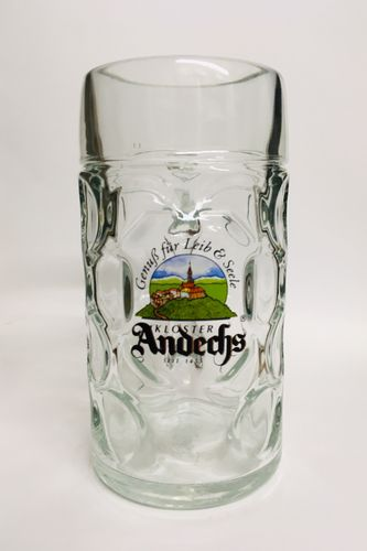 "Kloster Andechs - Bavarian / German Beer Glass 1.0 Liter Stein - ""Masskrug"" - NEW"