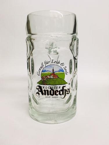 Kloster Andechs - German / Bavarian Beer Glass / Stein / Mug 0.5 Liter - NEW