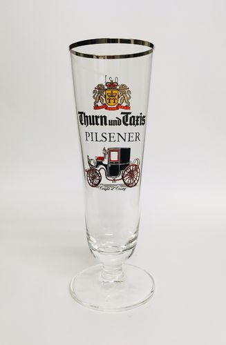 "Thurn und Taxis (Regensburg) - German / Bavarian  Beer Glass 0.2 Liter - ""Pilsener"" - NEW"
